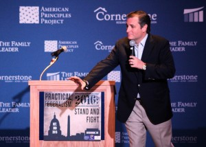 Ted Cruz joked about redeploying IRS workers. (Evan Lips – New Boston Post)