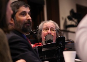 Stephen Mendelsohn, left, and Cathy Ludlum, center, of Second Thoughts Connecticut. (Evan Lips - New Boston Post)