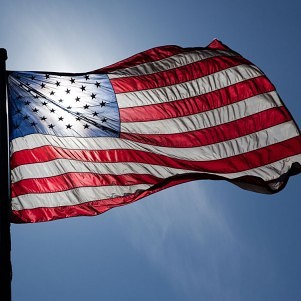Old Glory returns to Hampshire College