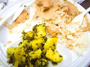 Chicken korma with aloo methi from Guru the Caterer (Scott P.)