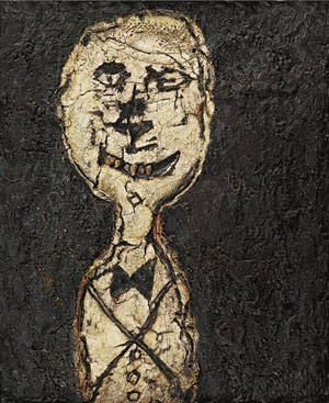 Jean Dubuffet Portrait of a Man with a Bowtie (1946) (Flickr)