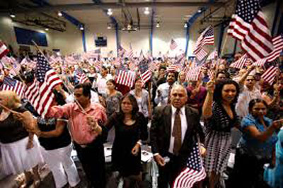 A naturalization ceremony.