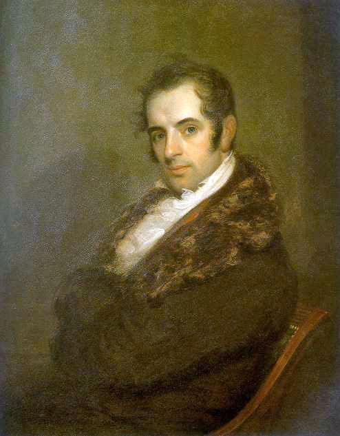 Portrait of Washington Irving by John Wesley Jarvis (Wikipedia)