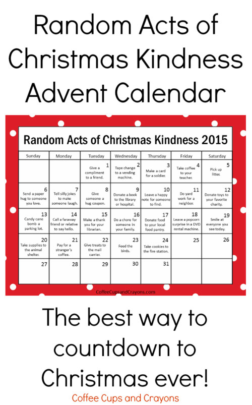 acts of kindness  u2014 random and otherwise  u2014 at advent