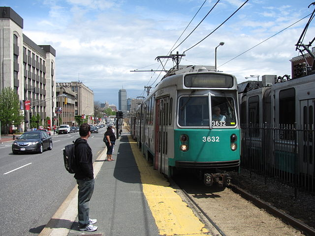 Green Line – St. Paul's stop, outbound