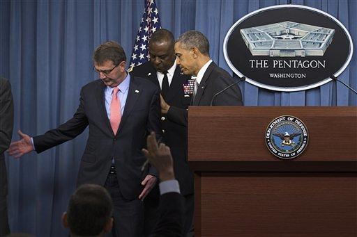 Barack Obama, Ash Carter, Lloyd Austin