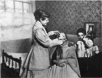 Rose Hawthorne with her first patients (Courtesy of Hawthorne Dominican Sisters)