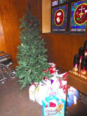St. Joseph Church Giving Tree. (NewBostonPost photo by Mary McCleary)