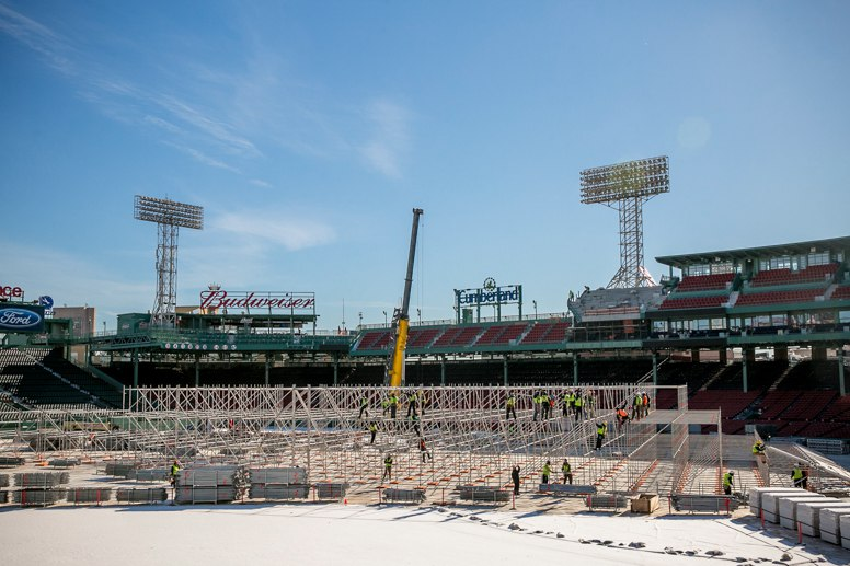 The ramp being built on Jan. 19, 2016 (Photo courtesy of the Boston Red Sox)