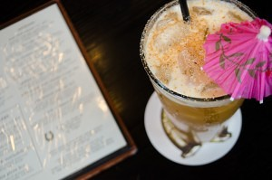 PUNCH IT! feature cocktail at Five Horses Tavern. (NewBostonPost, photo by Beth Treffeisen)