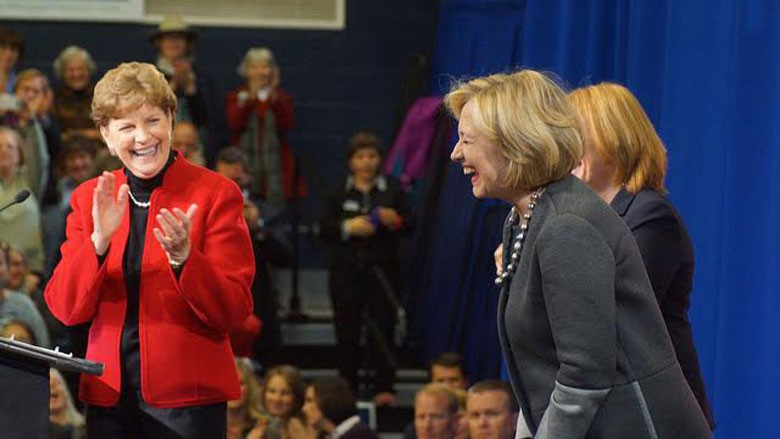 Jeanne Shaheen (D-N.H.), left, endorsed Hillary Clinton. (Flickr)