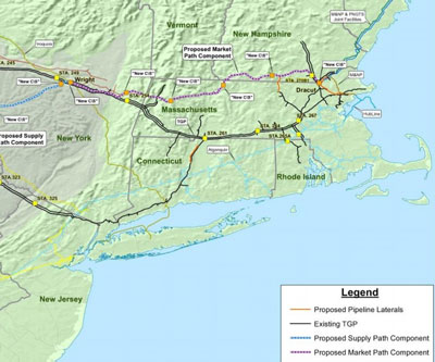 Map of the proposed pipeline. (KinderMorgan.com)