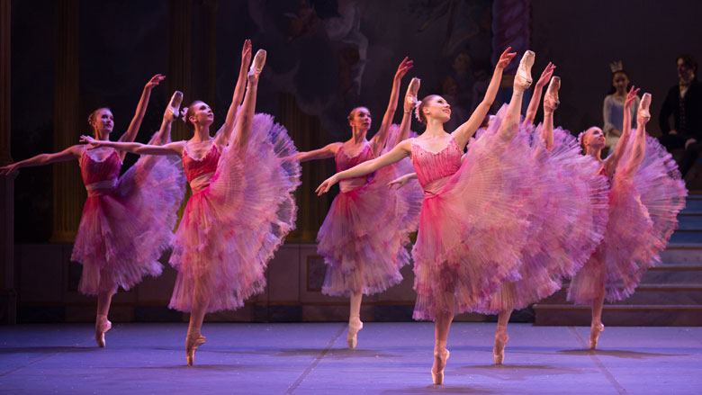 Boston Ballet in Mikko Nissinen's The Nutcracker. (Photo by Rosalie O'Connor, courtesy of Boston Ballet)
