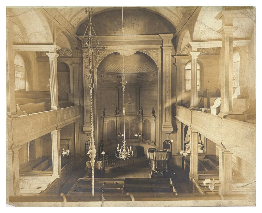 The interior of the Old North Church sanctuary as it looked in 1905. (Photo courtesy of Old North Foundation of Boston)