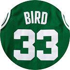 Larry Bird's No. 33.