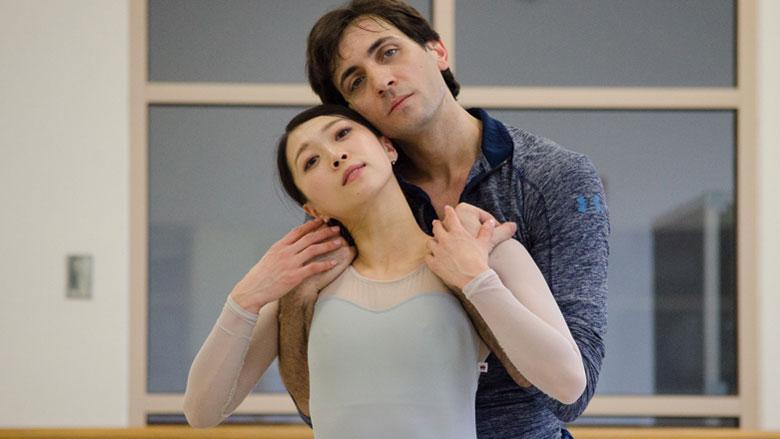 Principal Dancers Misa Kuranaga and Eris Nezha. (NewBostonPost photo by Beth Treffeisen)