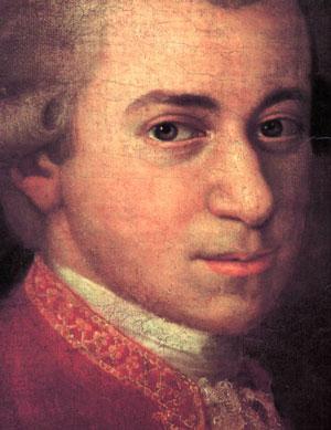 Wolfgang Amadeus Mozart, by Johann Nepomuk della Croce (1736-1819) (Wiki)