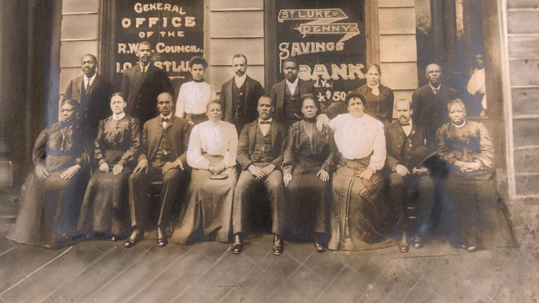 Maggie Walker and staffs of the Independent Order and St. Luke Bank. (Maggie L. Walker National Historic Site)