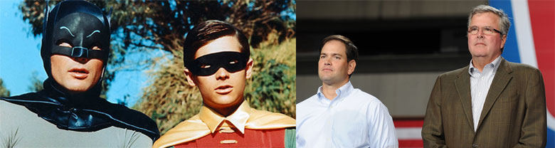 Jeb Bush and Marco Rubio, and Batman and Robin