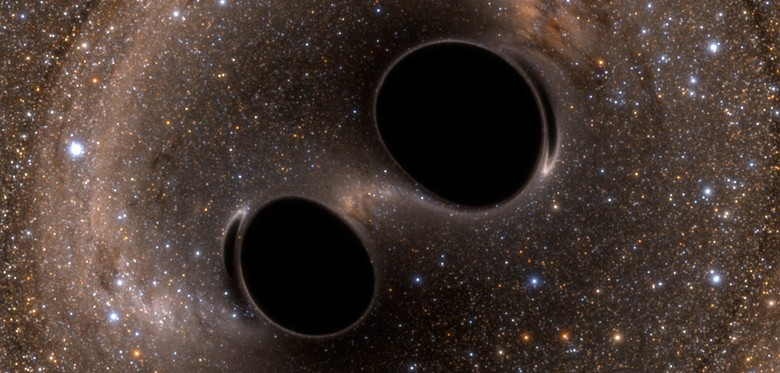 Gravity waves as black holes collide prove Einstein right ...