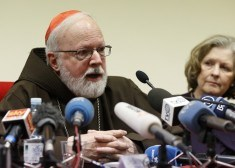 Cardinal Sean P. O'Malley of Boston speaks at news conference for official launch of Center for Child Protection in Rome