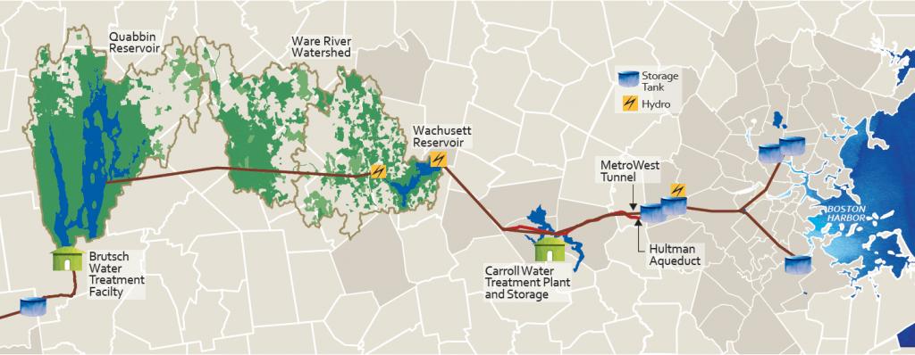 Map courtesy of the MWRA