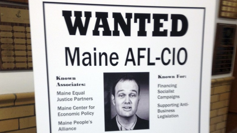 maine s lepage puts up wanted posters targeting unions newbostonpost