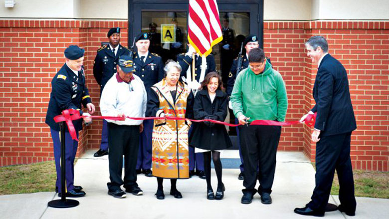 "Piestewa Hall dedication at Fort Benning""(Courtesy, U.S. Army)"