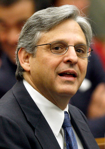 Judge Merrick B. Garland is seen at the federal courthouse in Washington. (AP Photo/Charles Dharapak, File)