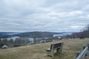 Overlooking the Quabbin Reservoir (New Boston Post photo by Beth Treffeisen)
