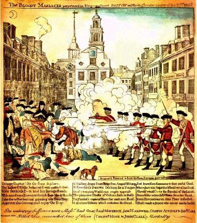 Paul Revere's engraving of the Boston Massacre. (Wikimedia)
