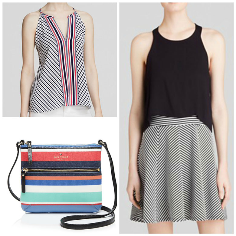 Rock the stripes and straps.