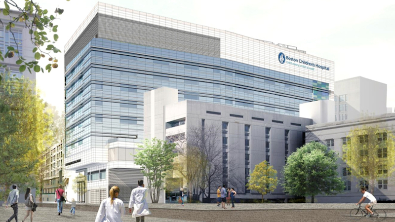 An artist rendering of the Boston Children's Hospital Clinical Building. (Courtesy of Boston Children's Hospital)