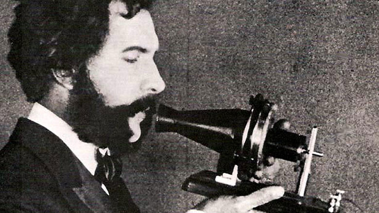 Actor portraying Alexander Graham Bell in an AT&T promotional film. (Wikimedia)