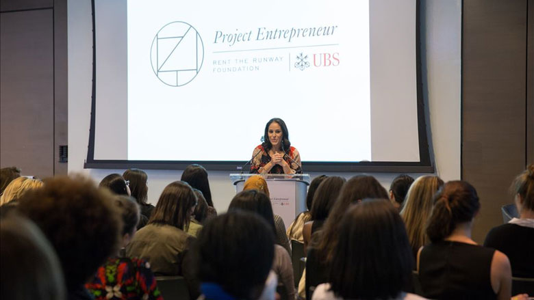 Project Entrepreneur's Lori Feinsilver partners with Rent the Runway Foundation to promote female-led, high-growth companies. (Courtesy of UBS)