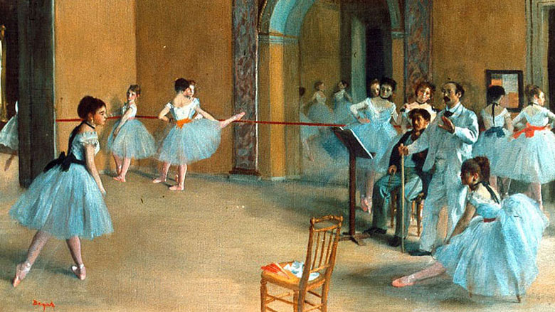 """""""The Foyer at the Opera"""" by Edgar Degas (Wikimedia)"""