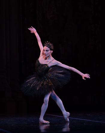 Anaïs Chalendard in Mikko Nissinen's Swan Lake; photo by Rosalie O'Connor, courtesy of Boston Ballet