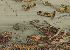 Boston harbor 1901 map