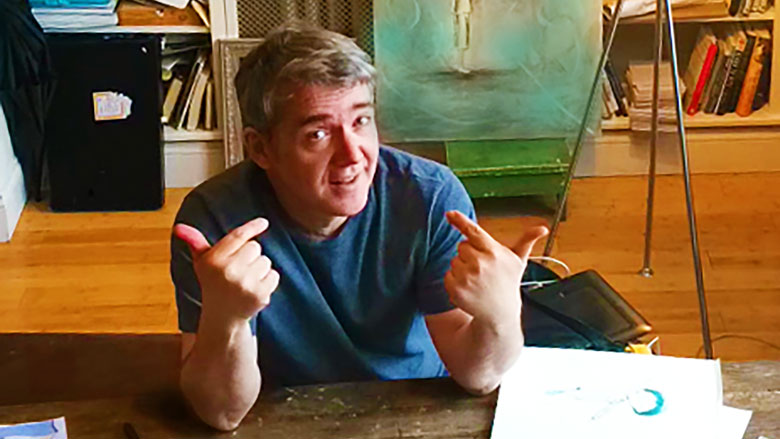 Peter Reynolds at his studio (Credit: Peggy Rose)