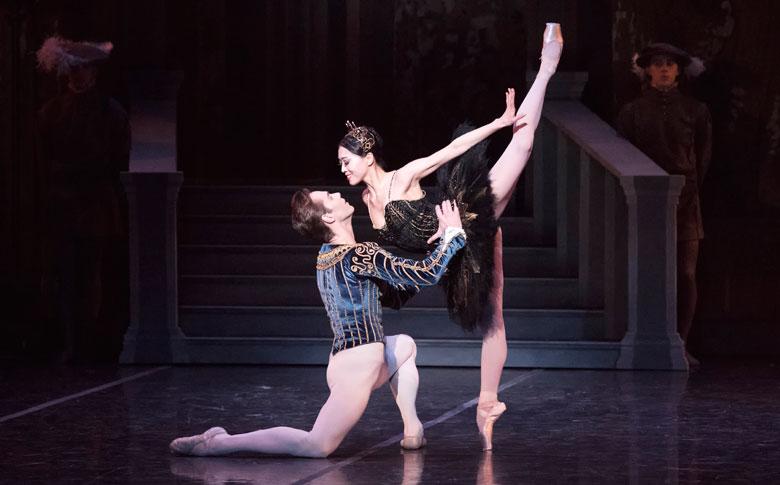 Guest Artist Gonzalo Garcia and Principal Misa Kuranaga in Mikko Nissinen's Swan Lake; photo by Gene Schiavone, courtesy Boston Ballet.