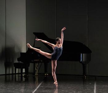 "Lia Cirio of Boston Ballet in José Martinez's ""Resonance""; photo by Gene Schiavone, courtesy Boston Ballet"