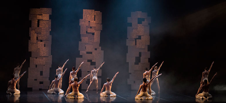 "Boston Ballet in Yury Yanowsky's ""Smoke and Mirrors""; photo by Gene Schiavone, courtesy Boston Ballet"