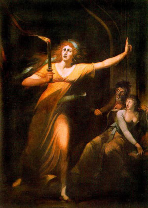 The Sleepwalking Lady Macbeth by Johann Heinrich Füssli (late 18th century) (Wikipedia)