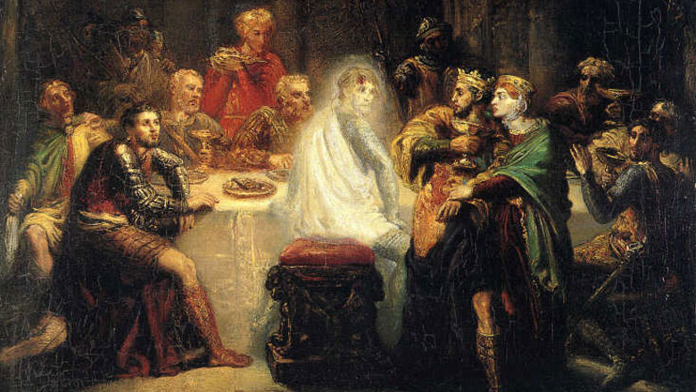 The Ghost of Banquo (1855), by Théodore Chassériau. (Wikipedia)