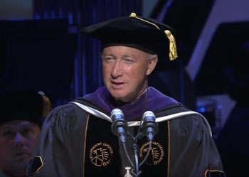 Mitch Daniels speaks at Purdue University