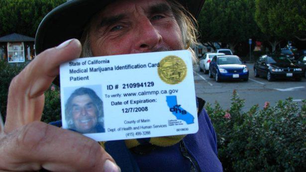 A California patient shows off his medical marijuana card. (Courtesy -- Wikipedia)