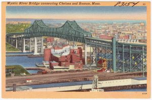 The Mystic River Bridge (Photo courtesy of the Boston Public Library)