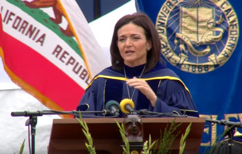 Sheryl Sandberg speaks at the University of California-Berkley