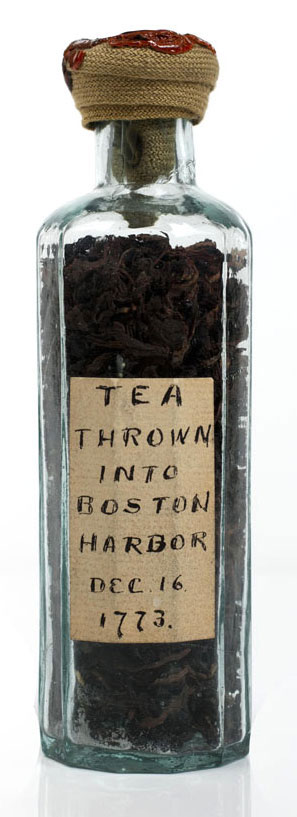 Colonial memento of the Boston Tea Party (Credit: American Antiquarian Society)