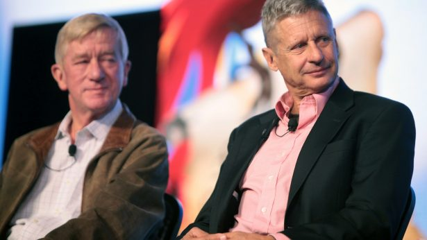 Libertarian Presidential candidate Gary Johnson and running mate (left) William Weld. (Courtesy -- Gage Skidmore,FLICKR creative commons)